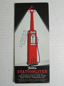 Rare 1930's Tokheim Stationliter Gas Pump Advertising Ink Blotter