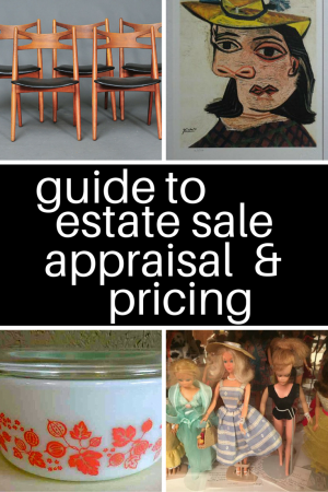 how to price estate sale items