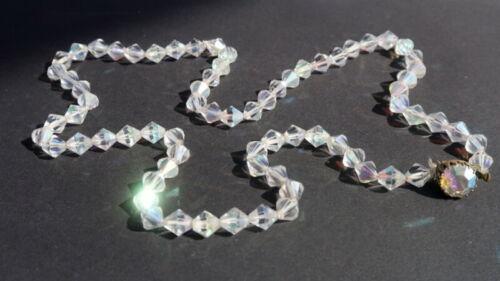 Czech White Crystal Glass Bead Necklace Woman Jewelry