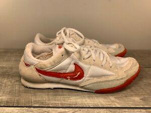 Nike Zoom Waffle Men's White Leather & Nylon Track Spikes