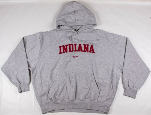 Vintage 1990's NIKE TEAM Center Swoosh Indiana Pull-Over Gray Hoodie